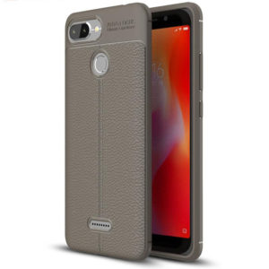 Redmi 6 Autofocus Leather Back Cover